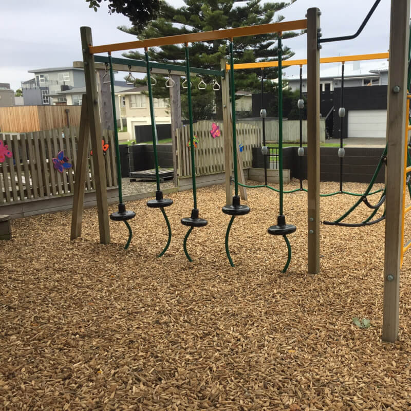 Playground mulch installation